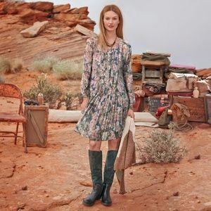 Sundance Catalog Province Rose Silk Dress 321